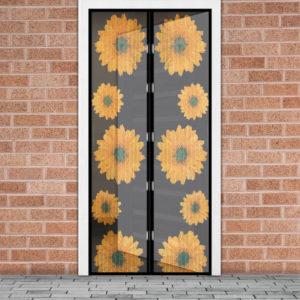 Mágneses szúnyogháló ajtóra, Napraforgók 100×210cm