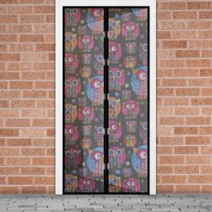 Mágneses szúnyogháló ajtóra, Baglyok 100×210cm