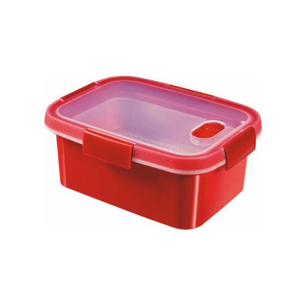 Curver Smart Micro mikrohullámú sütőbe helyezhető párolódoboz 1,2 l piros