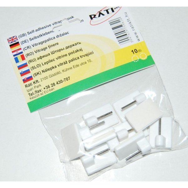 Öntapadós vitrázs pálca tartó 10 db/csomag Nr.5513