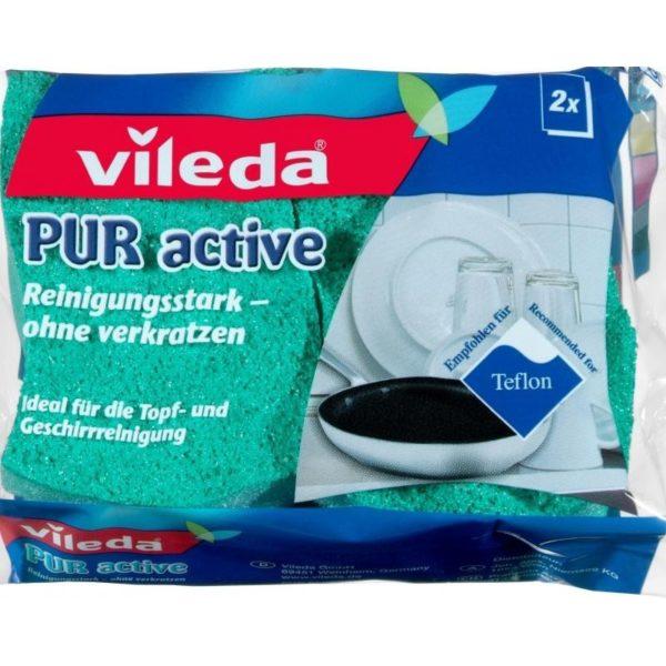 Vileda Pur Active mosogatószivacs 2 db/csomag F10004