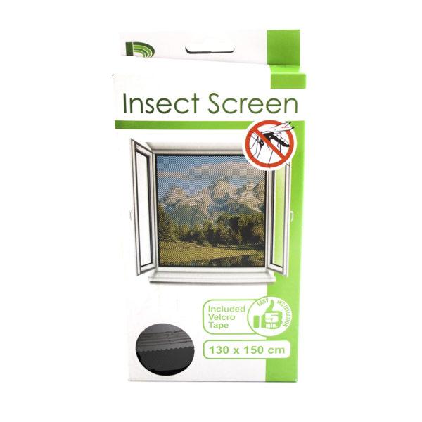 Tépőzáras szúnyogháló fekete 130x150 cm