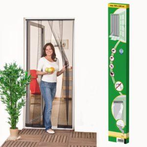 Lamellás szúnyogháló ajtóra 220x100 cm fekete
