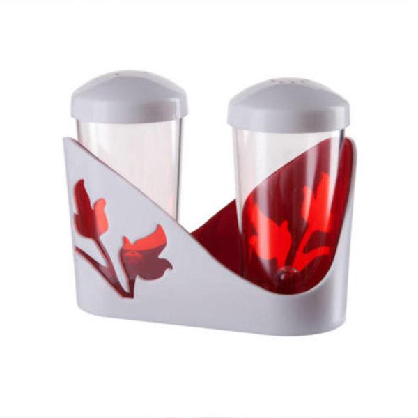 Berossi só és bors szóró pöttyös, piros IK20012