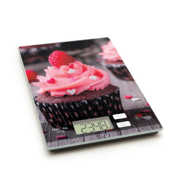 Konyhai mérleg, csokis muffin mintával 5 kg-ig