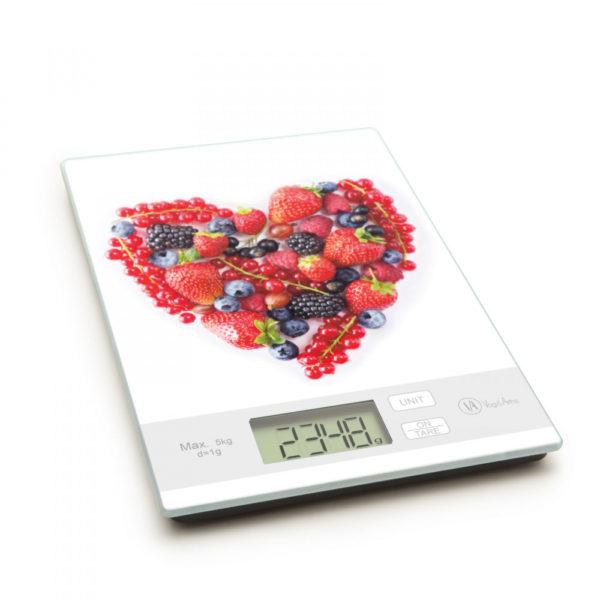 Konyhai mérleg, szív mintával 5 kg-ig