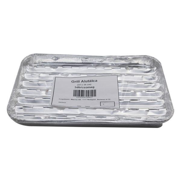 Alumínium grill tálca 3db-os