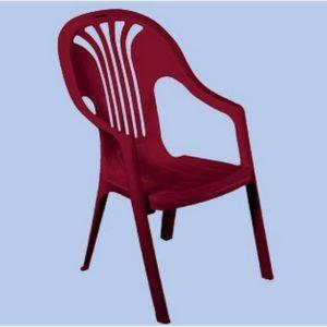 Chorus műanyag szék bordó