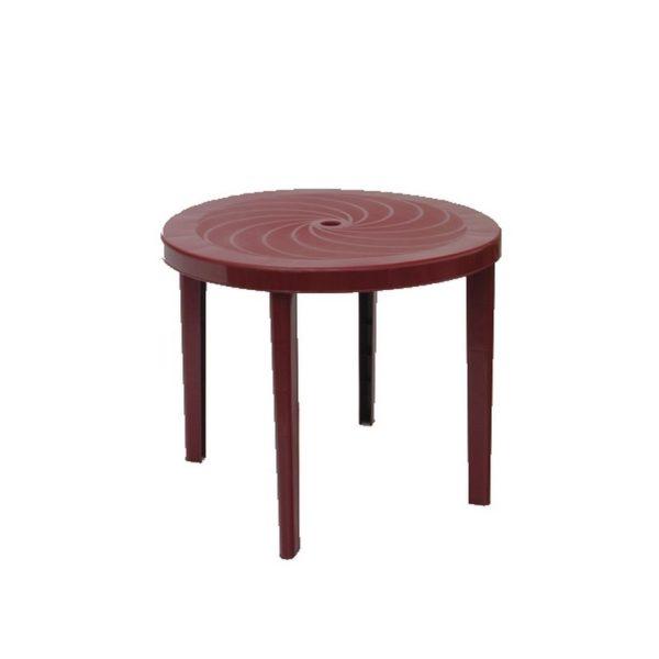 Asztal Laura kerek 90  cm bordó