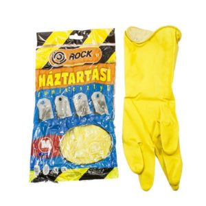 Háztartási gumikesztyű sárga M-es