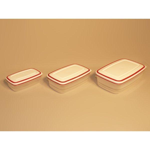 "Konyhai tárolódoboz 27x17x9 cm 3 db/csomag ""Mikrobox"""