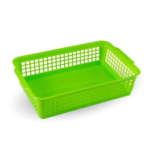 Műanyag kosár rácsos 24x16 cm