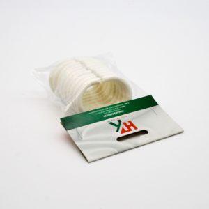 Zuhanyfüggöny karika C fehér 10 db/cs