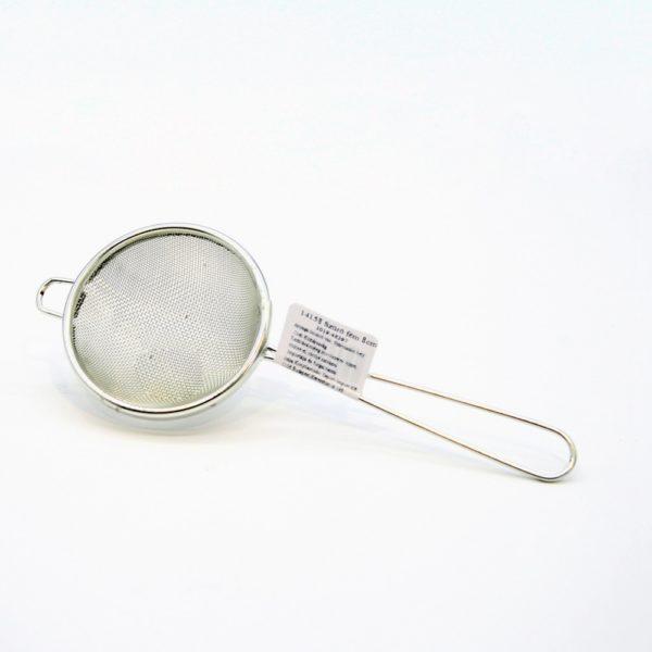 Levesszűrő fém ónozott 8 cm 14158