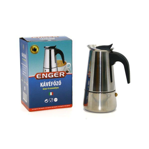 Kotyogós kávéfőző 4 személyes inox eng-110