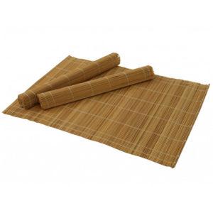 Tányér alátét bambusz 4 db-os, fa tartóban