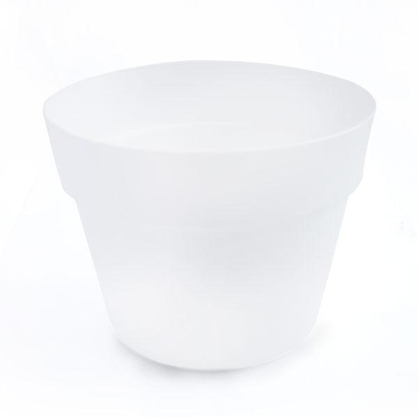 Virágcserép 18 cm fehér J.