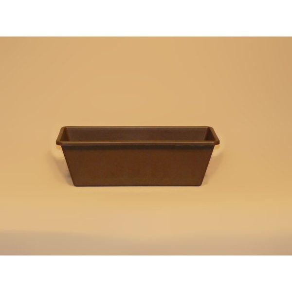 Balkonláda 58 cm barna