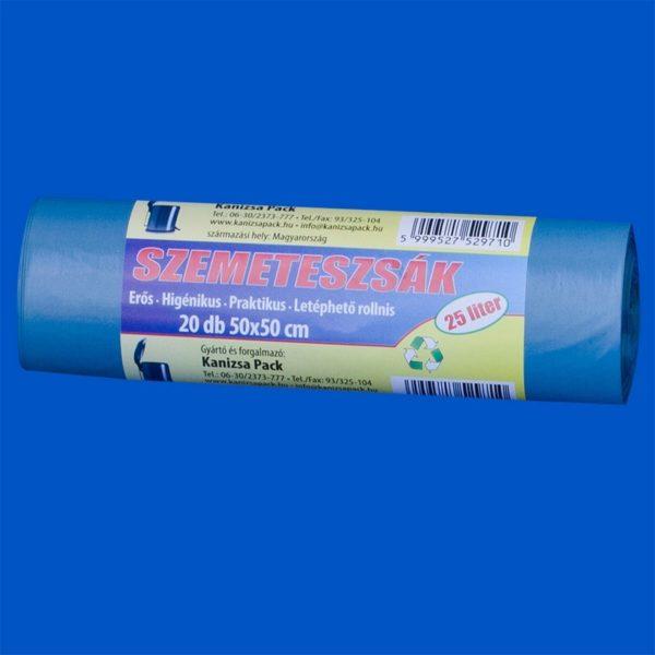Szemeteszsák 50x50 cm zöld (25 l) 20 db/csomag