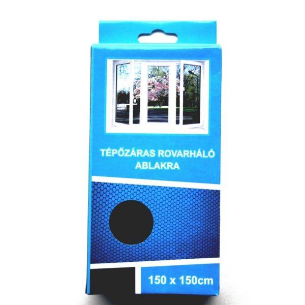 Szúnyogháló 150x150 cm tépőzáras fekete
