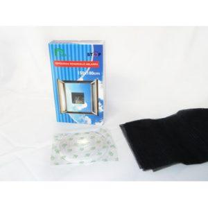 Szúnyogháló tépőzáras 180x150 cm fekete