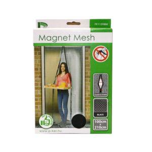 Mágneses szúnyogháló ajtóra fekete 220x100 cm