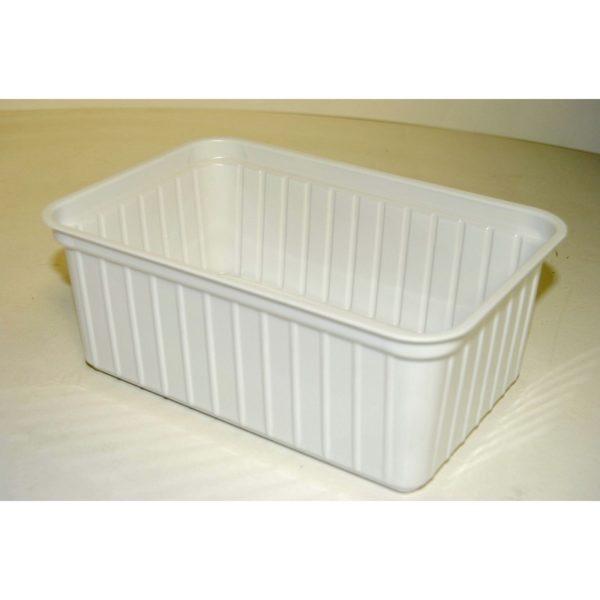 Szögletes tál fehér 1,25 l 50 db/cs
