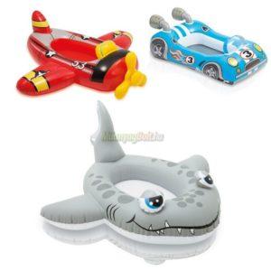 Felfújható csónak cápás 117x114 cm 59380