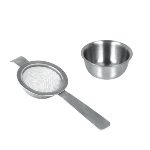 Metaltex Teaszűrő tartóval inox