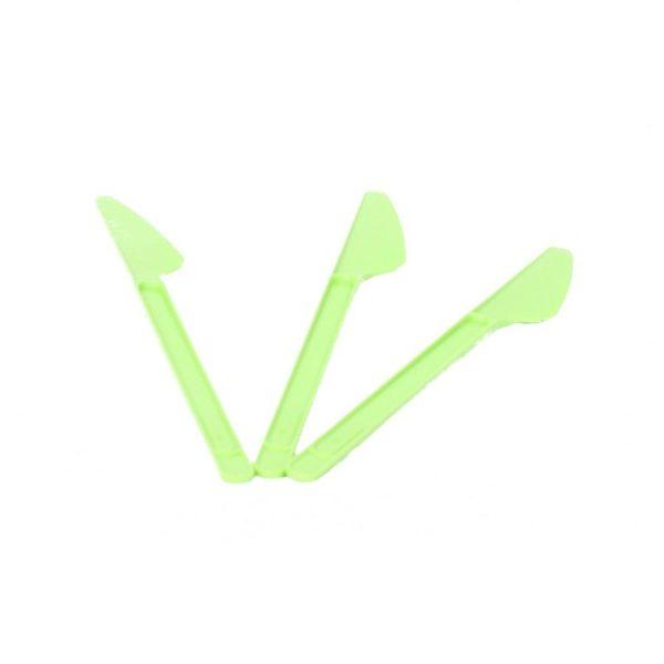 Eldobható evőeszköz kés zöld 20 db