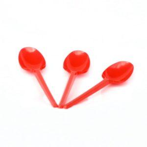 Eldobható evőeszköz kanál piros 20 db