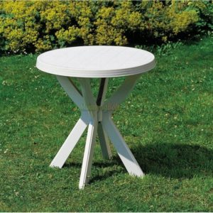 Asztal Don kerek 70cm fehér