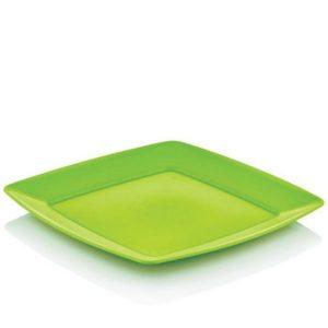 Hobby szögletes műanyag tányér 23x23 cm 031291