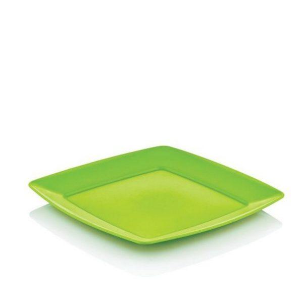 Hobby szögletes műanyag süteményes tányér 20x20 cm 031290