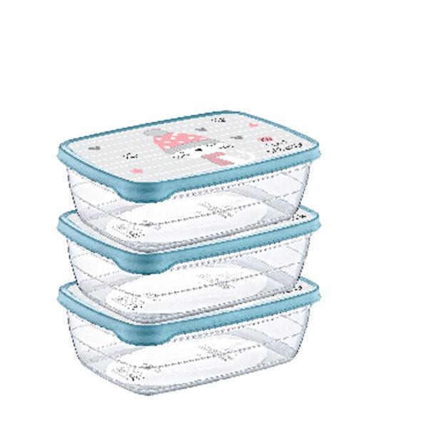 Hobby trend tároló doboz mintás 3×1,2 L