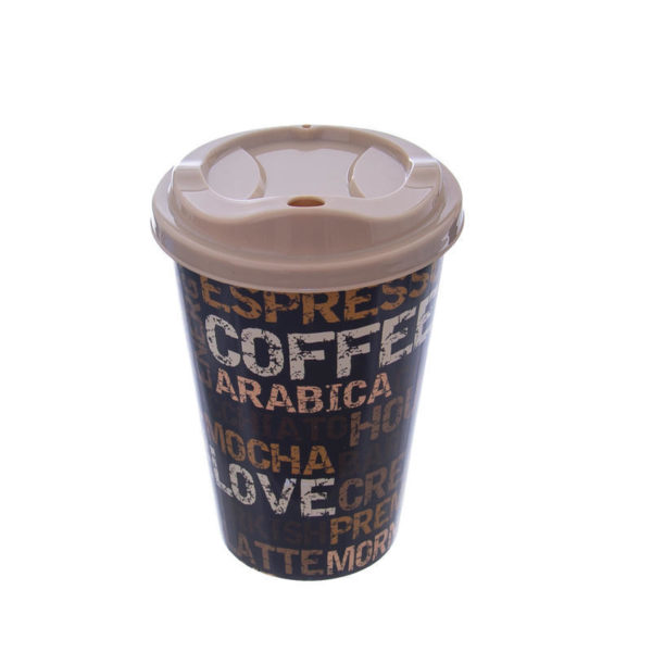 Hobby kávéspohár tetővel, többféle mintával 0,45 l