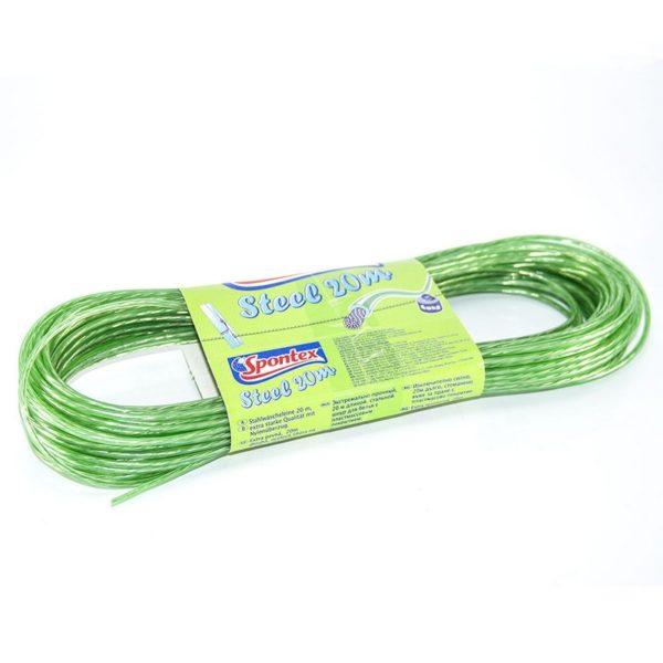 Ruhaszárító kötél acél 20 m V.