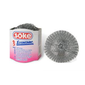 Sőke Eco fém dörzsi 3 db-os