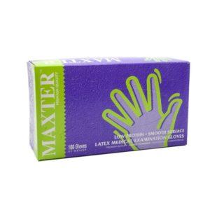 Egyszer használatos kesztyű Maxter Latex 5,5 g M-es 100db/cs.