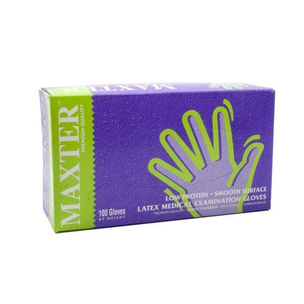 Egyszer használatos kesztyű Maxter Latex 5,5 g M-es 100 db/cs