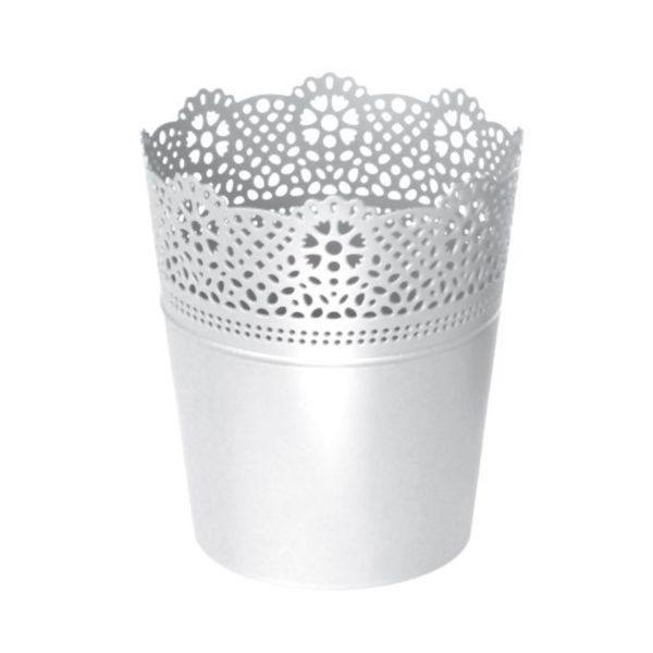 Lace Kaspó 11,5 cm fehér