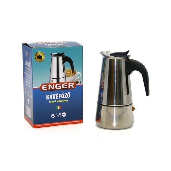 Kotyogós kávéfőző 2 személyes inox 2